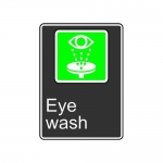 "Accuform MCSA943XT10, 14″ x 10″ Safety Sign ""Eye Wash"""