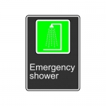 "Accuform MCSA947XT10, 14″ x 10″ Safety Sign ""Emergency Shower"""