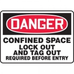 """Accuform MCSP111VP10, 10″ x 14″ OSHA Safety Sign """"Confined Space …"""""""