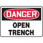 "Accuform MCSP182XF10, 18″ x 24″ OSHA Safety Sign ""Open Trench"""