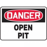 "Accuform MCSP186XF10, 18″ x 24″ OSHA Safety Sign ""Open Pit"""