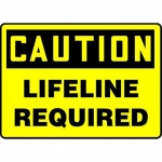"""Accuform MCSP636VS10, 10″ x 14″ OSHA Safety Sign """"Lifeline Required"""""""