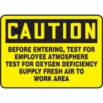 """Accuform MCSPC21VS10, 10″ x 14″ OSHA Safety Sign """"Before Entering"""""""