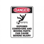 """Accuform MECN112XT10, 14″ x 10″ Safety Sign """"Exposed Conveyors …"""""""