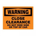 "Accuform MECR301XF10, 18″ x 24″ Safety Sign ""Close Clearance …"""
