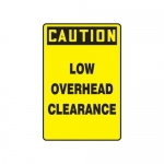 """Accuform MECR603XF10, 18″ x 12″ Safety Sign """"Low Overhead Clearance"""""""