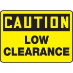 "Accuform MECR625XF10, 18″ x 24″ Safety Sign ""Low Clearance"""