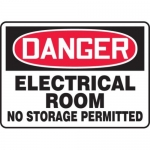 "Accuform MELC006VP10, 10″ x 14″ OSHA Safety Sign ""Electrical Room …"""