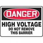 "Accuform MELC012VP10, 10″ x 14″ OSHA Safety Sign ""High Voltage …"""