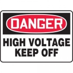 "Accuform MELC019VP10, 10″ x 14″ Safety Sign ""High Voltage – Keep Off"""