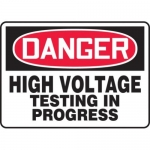 "Accuform MELC020VP10, 10″ x 14″ OSHA Safety Sign ""High Voltage …"""