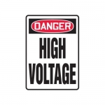 "Accuform MELC025VP10, 10″ x 7″ OSHA Safety Sign ""High Voltage"""