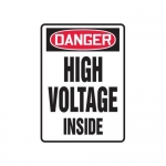 "Accuform MELC033VP10, 10″ x 7″ OSHA Safety Sign ""High Voltage Inside"""