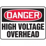 "Accuform MELC038VP10, 10″ x 14″ Safety Sign ""High Voltage Overhead"""