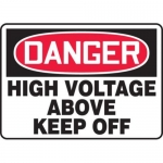 "Accuform MELC039VP10, 10″ x 14″ Safety Sign ""High Voltage Above …"""