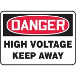 "Accuform MELC040VP10, 10″ x 14″ Safety Sign ""High Voltage – Keep Away"""