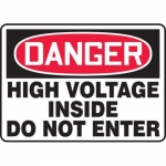 "Accuform MELC041VP10, 10″ x 14″ Safety Sign ""High Voltage Inside …"""