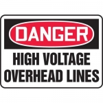 "Accuform MELC042VP10, 10″ x 14″ OSHA Safety Sign ""High Voltage …"""