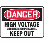"Accuform MELC044VP10, 10″ x 14″ OSHA Safety Sign ""High Voltage …"""
