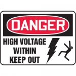 "Accuform MELC048VP10, 10″ x 14″ Safety Sign ""High Voltage Within …"""