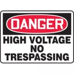 "Accuform MELC053VP10, 10″ x 14″ OSHA Safety Sign ""High Voltage …"""