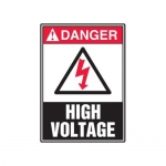 "Accuform MELC062VP10, 14″ x 10″ Safety Sign ""High Voltage"""