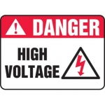 "Accuform MELC064VP10, 10″ x 14″ Safety Sign ""High Voltage"""