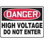 "Accuform MELC067VP10, 10″ x 14″ Safety Sign ""High Voltage …"""