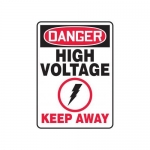 "Accuform MELC068VP10, 14″ x 10″ Safety Sign ""High Voltage – Keep Away"""