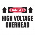 "Accuform MELC069VP, 14″ x 20″ Safety Sign ""High Voltage Overhead"""