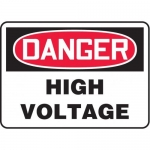 "Accuform MELC113VP10, 7″ x 10″ Safety Sign ""High Voltage"""