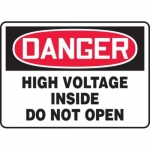 "Accuform MELC117VP10, 10″ x 14″ Safety Sign ""High Voltage Inside …"""