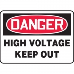 "Accuform MELC127VP10, 7″ x 10″ Safety Sign ""High Voltage – Keep Out"""