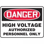 "Accuform MELC138VP10, 10″ x 14″ Safety Sign ""High Voltage …"""