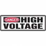 """Accuform MELC140XT10, 4″ x 12″ Safety Sign """"High Voltage"""""""