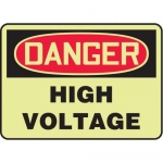 "Accuform MELC152GP10, 10″ x 14″ Safety Sign ""High Voltage"""