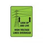 "Accuform MELC214VP, 14″ x 10″ Safety Sign ""Look Up & Live! …"""