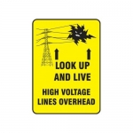 "Accuform MELC215VP, 14″ x 10″ Safety Sign ""Look Up & Live! …"""