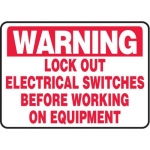 """Accuform MELC317VP10, 10″ x 14″ Safety Sign """"Lock Out Electrical …"""""""