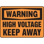 "Accuform MELC323VP10, 7″ x 10″ Safety Sign ""High Voltage – Keep Away"""