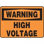 "Accuform MELC325VP10, 7″ x 10″ Safety Sign ""High Voltage"""