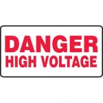 "Accuform MELC502VP10, 7″ x 14″ Safety Sign ""High Voltage"""