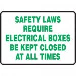 """Accuform MELC505XF10, 7″ x 10″ Safety Sign """"Safety Laws …"""""""