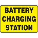 "Accuform MELC525XT10, 10″ x 14″ Safety Sign ""Battery Charging Station"""