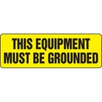 """Accuform MELC529XT10, 4″ x 12″ Safety Sign """"This Equipment Must …"""""""