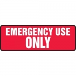 """Accuform MELC540XT10, 4″ x 12″ Electrical Sign """"Emergency Use Only"""""""