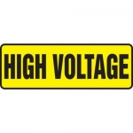 "Accuform MELC542XT10, 4″ x 12″ Electrical Sign ""High Voltage Caution"""