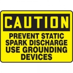 """Accuform MELC611XV10, 10″ x 14″ Safety Sign """"Prevent Static …"""""""