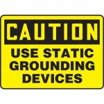 """Accuform MELC654XV10, 7″ x 10″ Safety Sign """"Use Static Grounding …"""""""