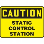 "Accuform MELC655XT10, 7″ x 10″ Safety Sign ""Static Control Station"""